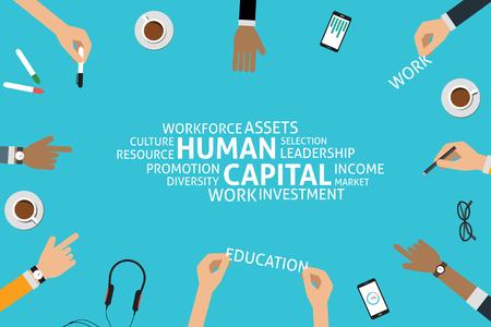vectorial concepto de capital humano, plantilla Ilustración de vector