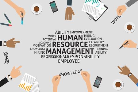 wektor koncepcja zarządzania zasobami ludzkimi, szablon