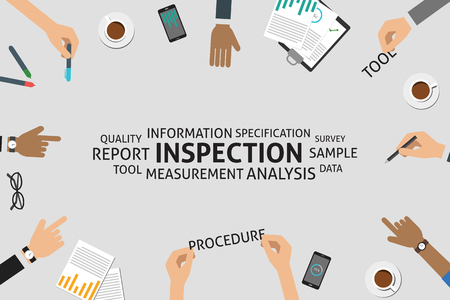inspection: vector inspection concept,template