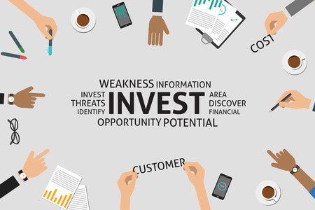 weakness: vector invest concept,template