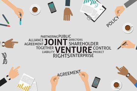 vector joint venture concept,template