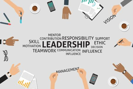 ethic: vector leadership concept