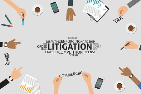 vector litigation concept,template