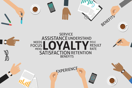 retention: vector loyalty concept,template