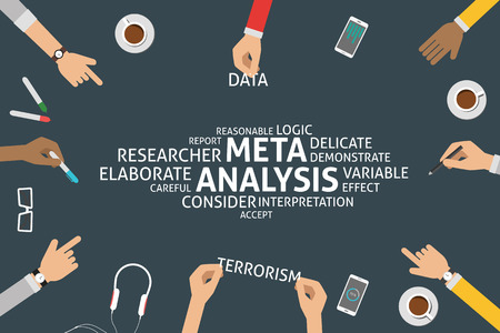 vectorial concepto de meta-análisis, plantilla