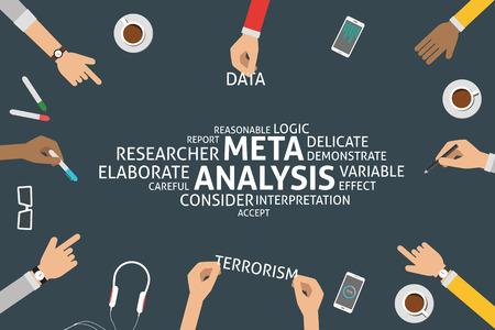vettore meta-analisi concetto, modello