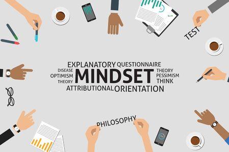 mindset: vector mindset concept,template Illustration