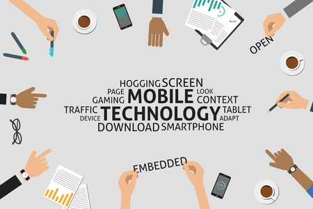 vector mobile technology concept,template Illustration