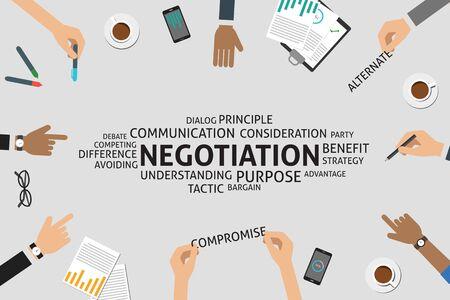 avoiding: vector negotiation concept,template