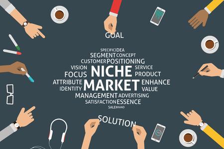 posicionamiento de marca: vector concepto de nicho de mercado, plantilla