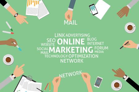 marketing concept: vector online marketing concept,template