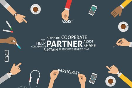 sustain: vector partner concept,template