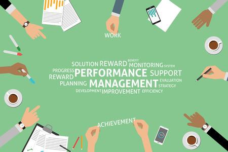 vector performance management concept,template