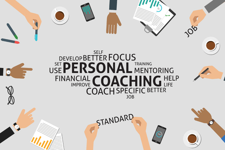 vector personal coaching concept,template