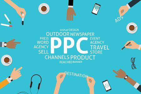 ppc: vector PPC concept,template