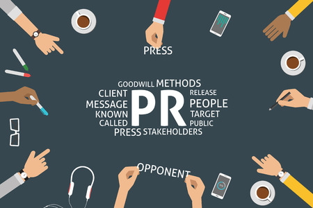 stakeholders: vector PR concept,template