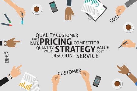 vector pricing strategy concept,template