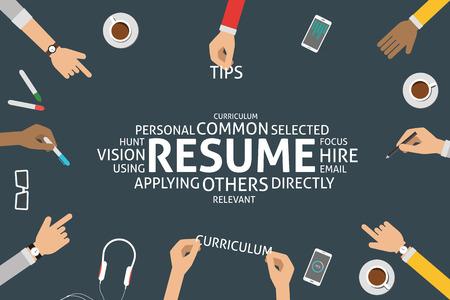 employ: vector resume concept,template