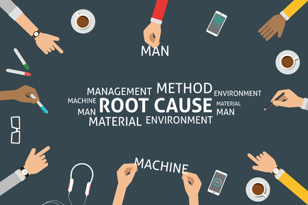 cause: vector root cause concept Illustration
