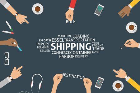 vector shipping concept,template