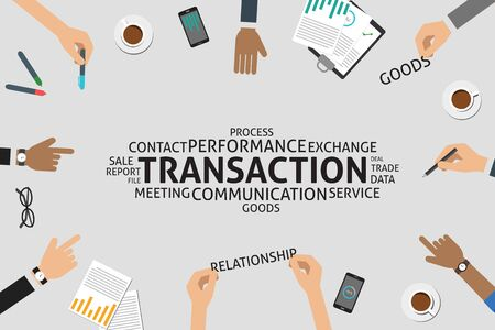 sales meeting: vector transaction concept,template Illustration