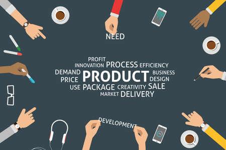 price development: vector product concept Illustration