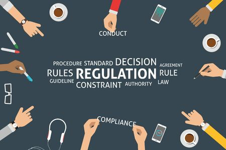 rules: vector regulation concept Illustration
