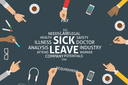 sick leave: vector sick leave concept,template