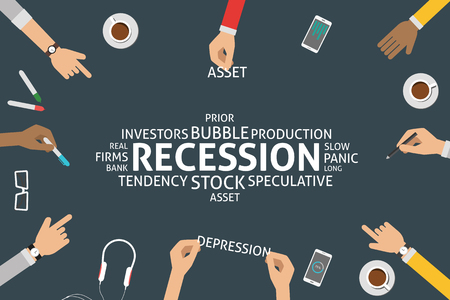 tendency: vector recession concept,template Illustration