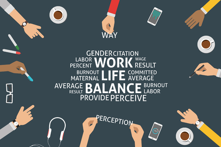 perceive: vector work life balance concept,template Illustration