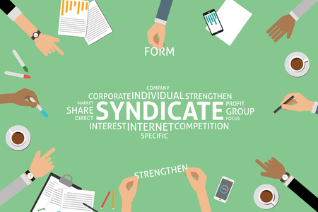 syndicate: vector syndicate concept,template Illustration