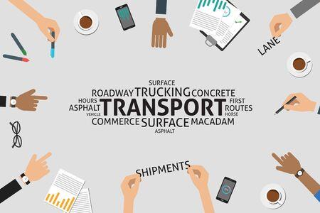 vector transport concept,template Ilustração
