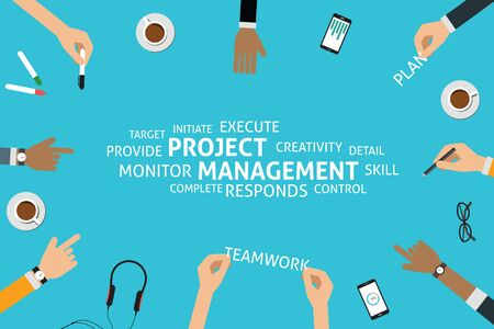 execute: vector  project management concept