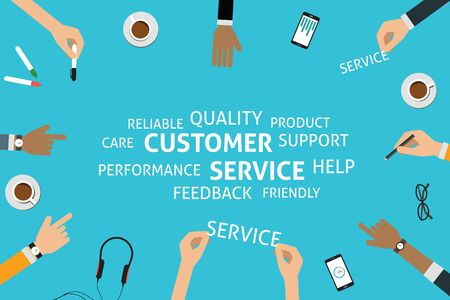 trustworthy: vector customer service concept