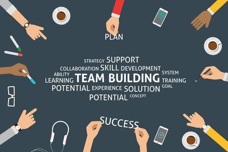 vector team building concept