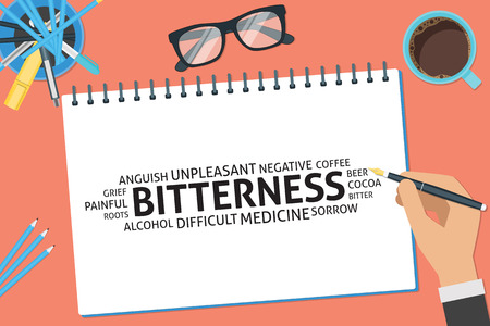 bitterness: vector bitterness concept,template Illustration
