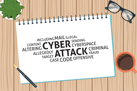 cyber attack: vector cyber attack concept,template Illustration