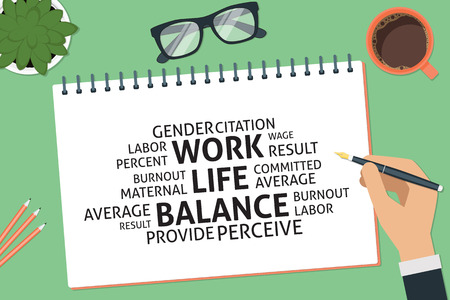 vector work life balance concept,template Illustration