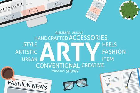 arty: vector arty concept,template