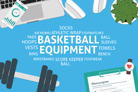 wristbands: vector basketball equipment concept,template Illustration