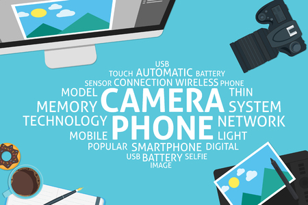 camera phone: vector camera phone concept,template