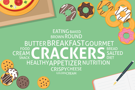 crackers: vector crackers concept,template Illustration