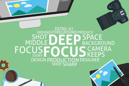 deep focus: vector deep focus concept,template Illustration