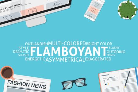 vector flamboyant concept,template Illustration
