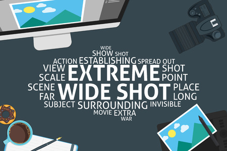 shot: vector extreme wide shot concept,template