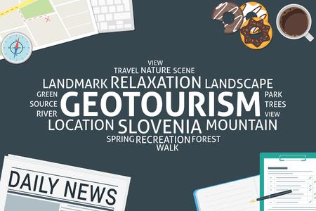 vector geotourism concept,template Banco de Imagens - 55925546