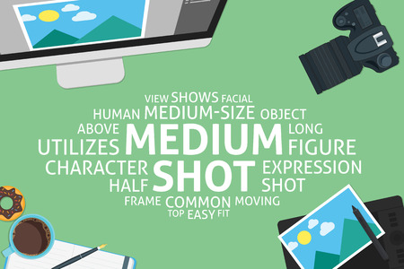 vector medium shot concept,template