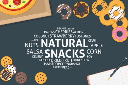 vector natural snacks concept,template