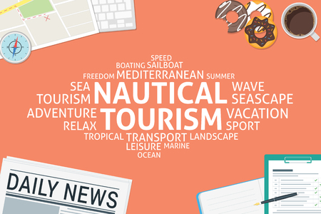 vector nautical tourism concept,template Ilustrace