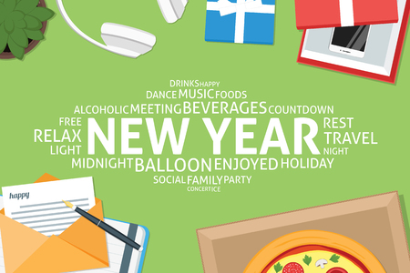vector new year concept,template